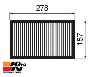 K&N Air Filter 33-2166
