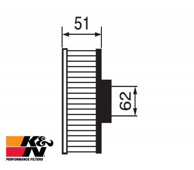 K&N Air Filter RC-1980