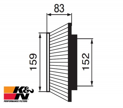 K&N Air Filter RF-1002